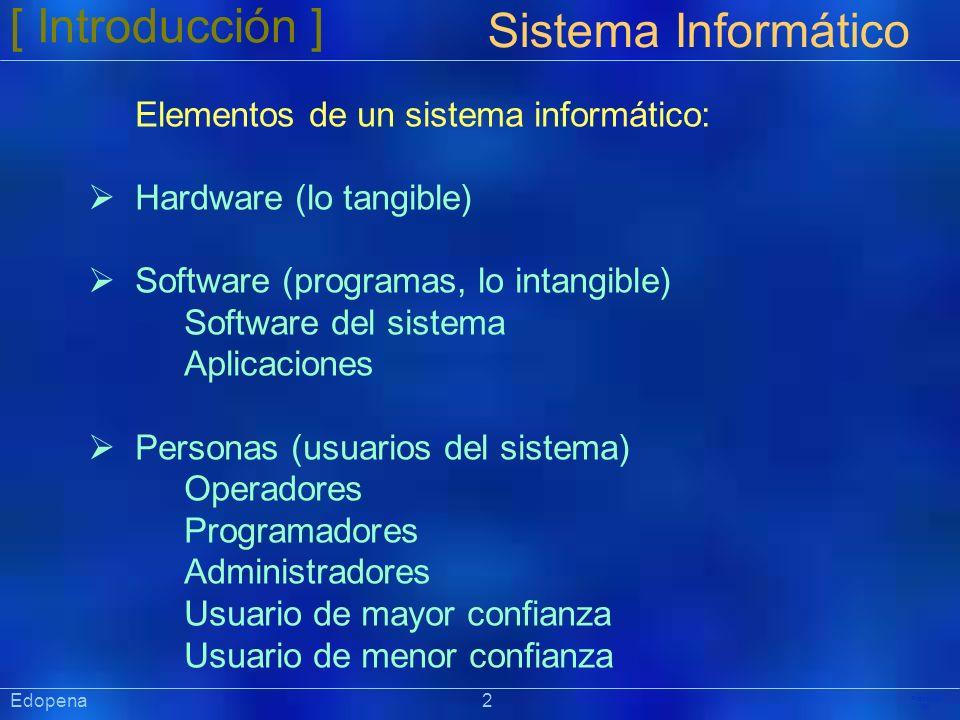[ Introducción ] Sistema Informático